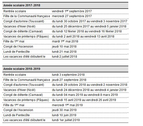 Calendrier conges